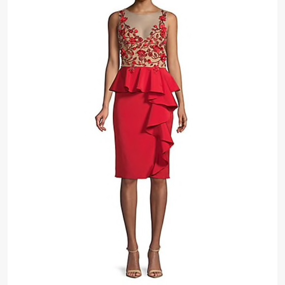 adb4761ef56c Marchesa Dresses | Notte Red Embroidered Dress 6 Nwtfinal | Poshmark